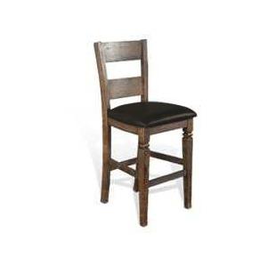 "30""H Homestead Ladderback Barstool w/ Cushion Seat"