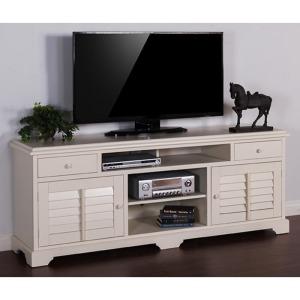 "Vintage White 78"" TV Console"