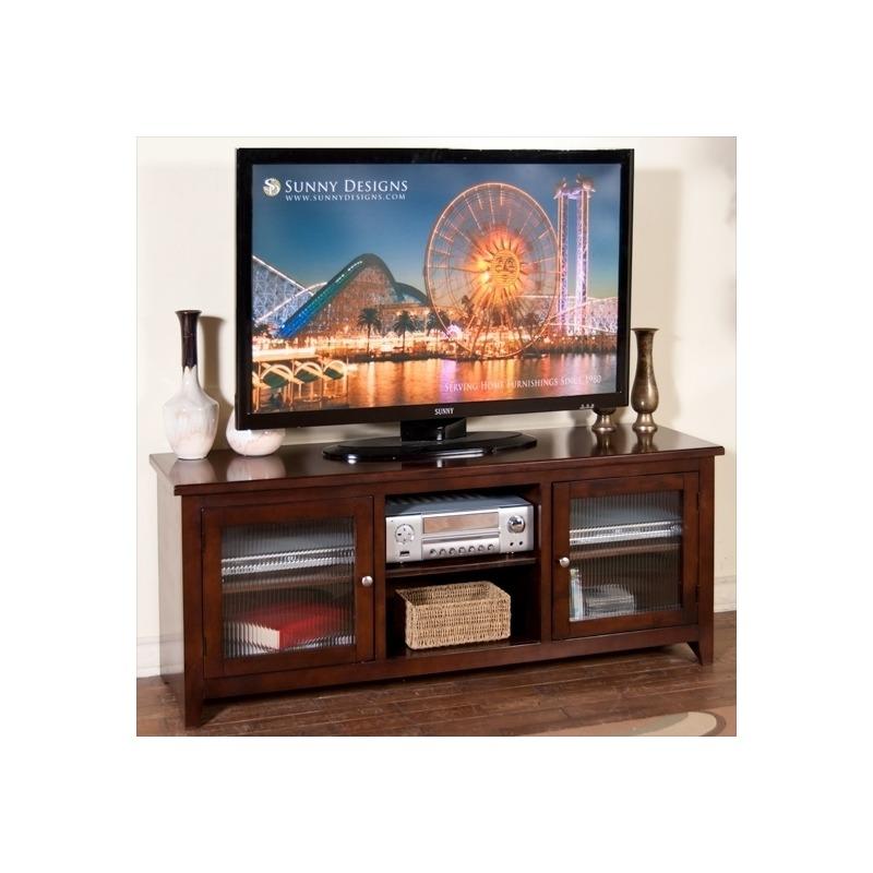 3447CA-62R Cappuccino 62-inch TV Console, RTA
