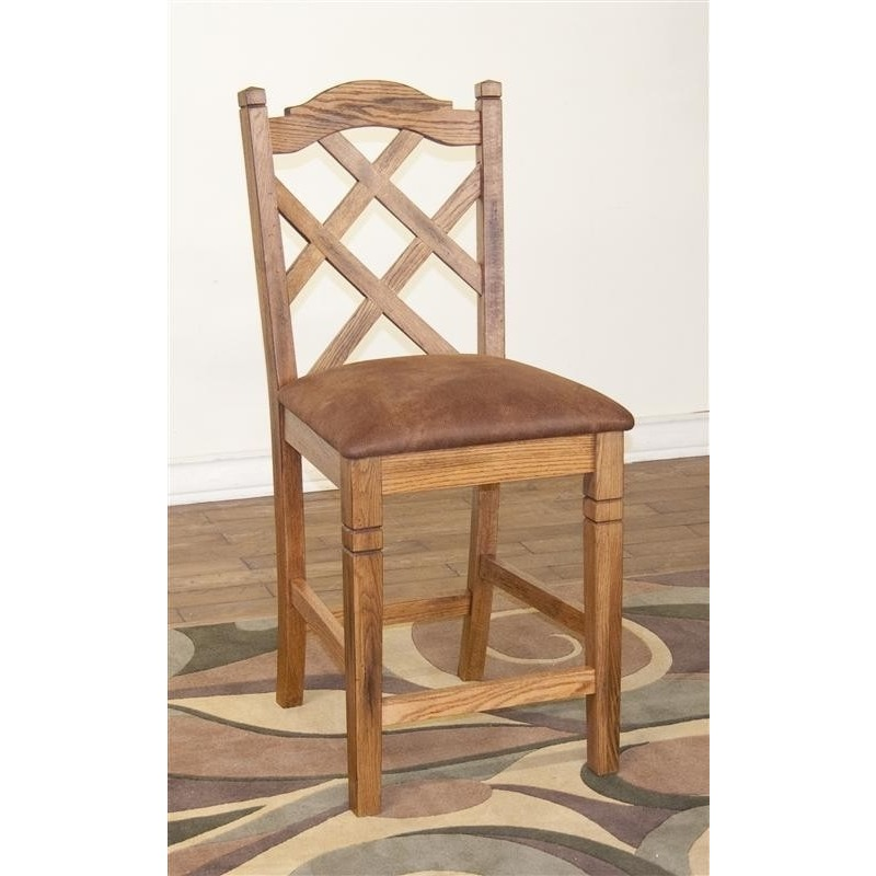 1848RO Double Crossback Stool Sedona