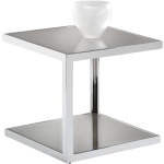 NOLAN MIRRORED SIDE TABLE - STAINLESS STEEL