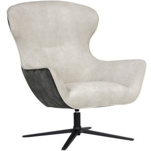 Weller Swivel Lounge Chair - Nono Cream / Nono Dark Green
