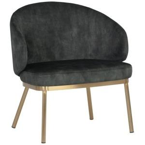 Echo Lounge Chair - Gold - Nono Dark Green