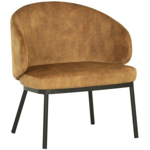 Echo Lounge Chair - Black - Nono Tapenade Gold