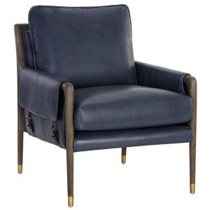 Mauti Lounge Chair - Dark Brown - Cortina Ink Leather