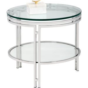 ANDROS END TABLE - STAINLESS STEEL