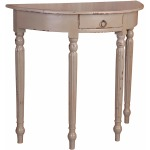 Shabby-Chic-Collection-Console-table-with-rounded-front-and-drawer-finished-in-antique-Sage-three-qu