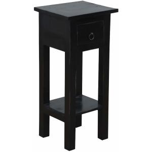 Cottage Side Table – Distressed Antique Black