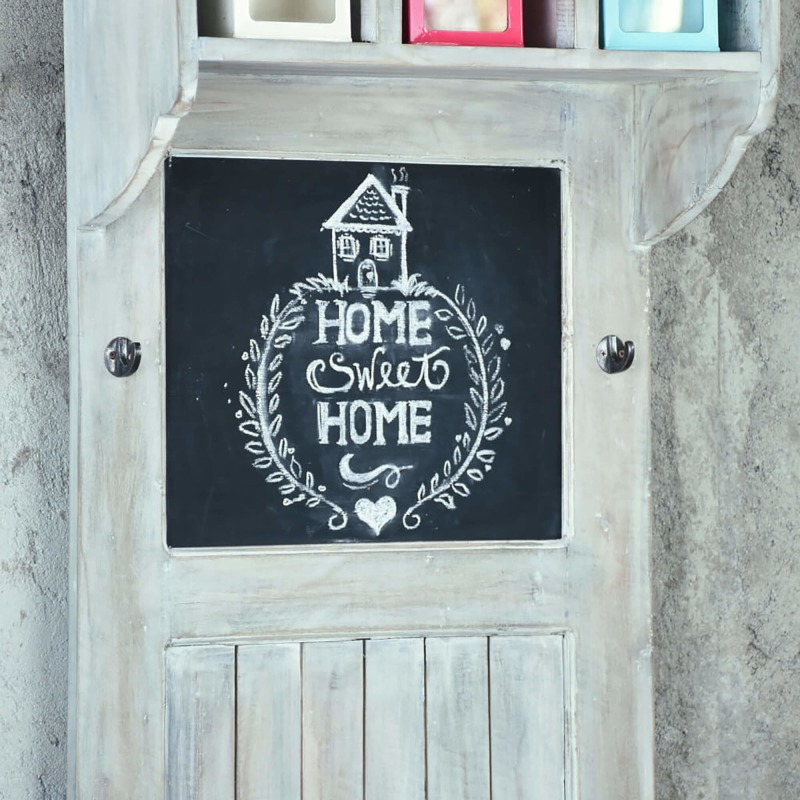 Shabby-Chic-Collection-Hall-tree-with-chalkboard-finished-in-a-Gray-wash-detail-of-chalkboard-CC-CAB