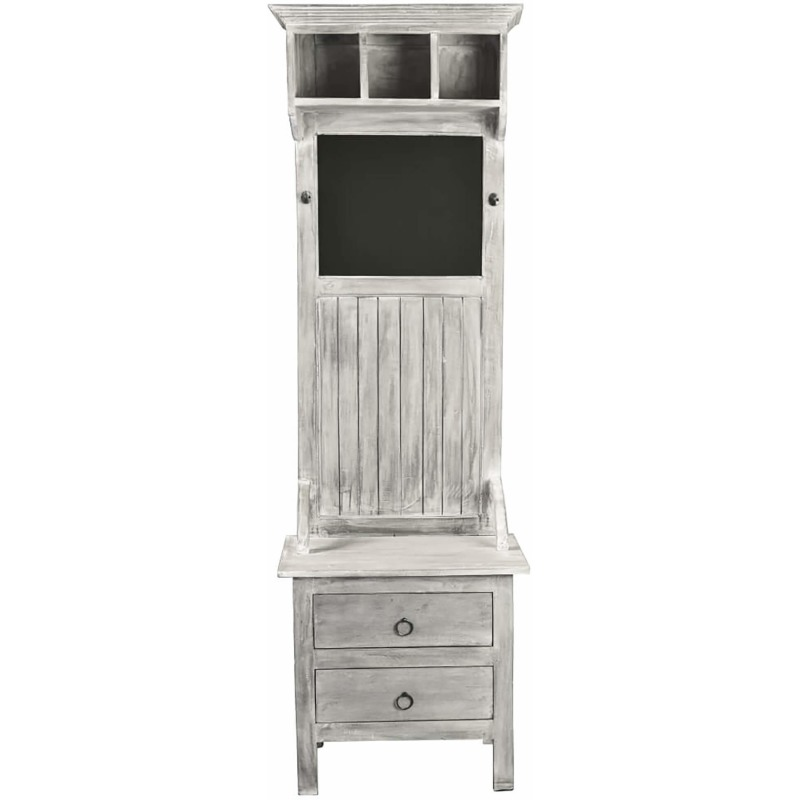 Shabby-Chic-Collection-Hall-tree-with-chalkboard-finished-in-a-Gray-wash-front-view-CC-CAB251S-SW.jp