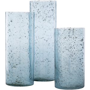 Mist Blue Candle Holder - Set of 3