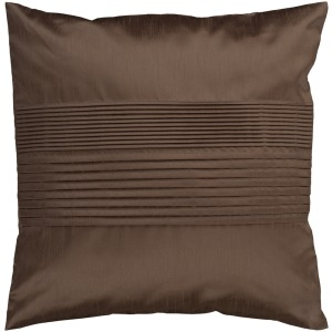 "Solid Pleated Throw Pillow - 18"" x 18"""