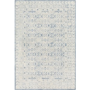 Louvre Navy Ice Blue Cream Rug - 6' x 9'