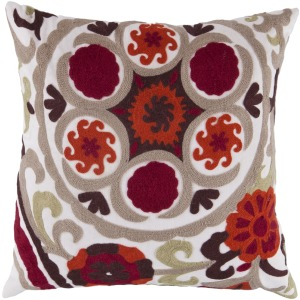 "Botanical Pillow Shell with Polyester Insert (18"" x 18"")"