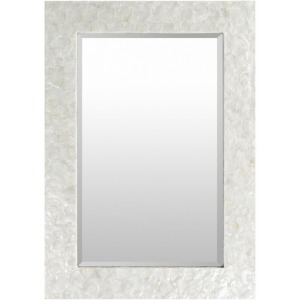 Mother of Pearl Mirror - White