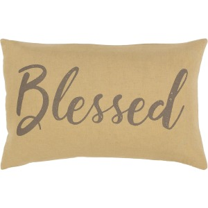 """Blessings 13"""" x 20"""" Pillow Cover"""