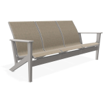 Wexler Sling Chat Height Three-Seat Sofa - Warm Grey