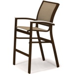 Bazza Sling Bar Height Stacking Cafe Chair