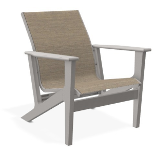 Wexler Sling Chat Height Arm Chair - Warm Grey