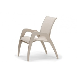 Dune Mgp Sling, Stacking Arm Chair