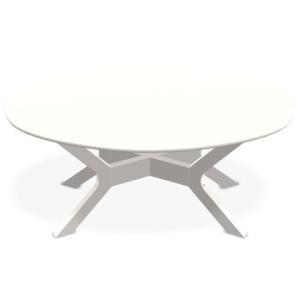 "Wexler 24"" x 42"" Oval Coffee Table - Warm Grey"