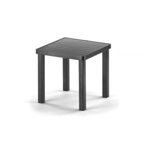 Aluminum Slat Top Table, 18″ Square End Table