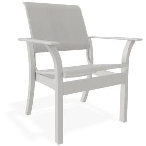 Leeward MGP Sling Stacking Chair Cafe