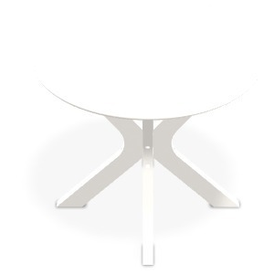 "Wexler 23"" Round End Table - Snow"