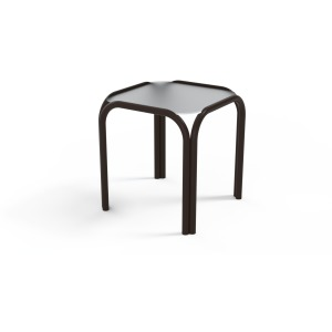 "17"" Square Obscure Acrylic End Table"