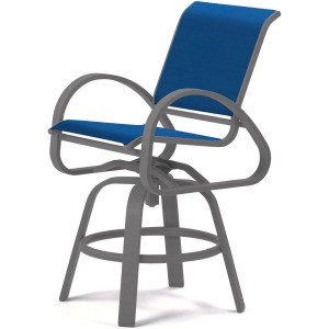 Aruba Sling Balcony Height Swivel Cafe Chair