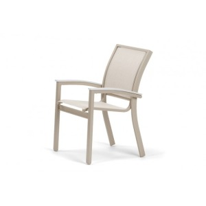 Bazza Mgp Aluminum Sling, Stacking Cafe Chair W/mgp Snow Accents