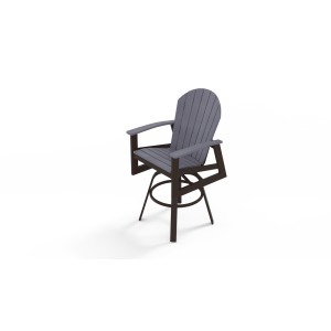 Newport Bar Height Swivel Arm Chair