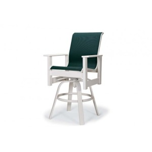 Leeward Mgp Sling, Counter Height Swivel Arm Chair