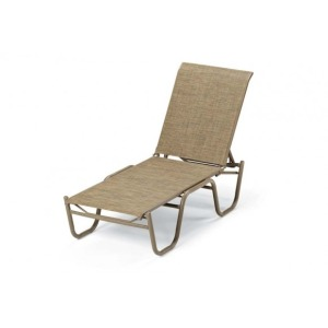 Reliance Contract Sling, Four-position Lay-flat Stacking Armless Chaise