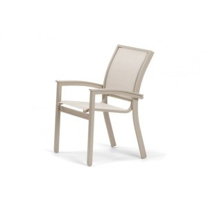 Bazza Mgp Aluminum Sling, Stacking Cafe Chair W/mgp Desert Accents