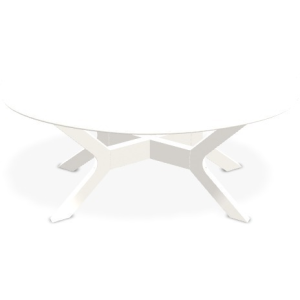 "Wexler 24"" x 42"" Oval Coffee Table - Snow"