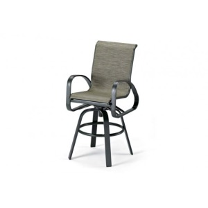 Primera Sling, Bar Height Swivel Arm Chair