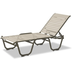 "Reliance Contract Strap 16"" Four-Position Lay-flat Stacking Armless Chaise"
