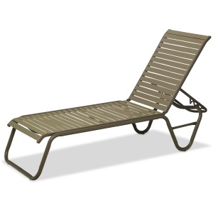 Reliance Contract Strap Four-Position Lay-flat Stacking Armless Chaise