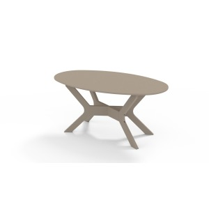 "23.5"" x 42"" MGP Oval Coffee Table"