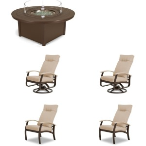 5PC Outdoor Fire Table Set