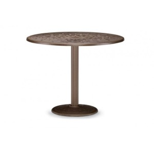 56″ Round Bar Height Table W/ Hole