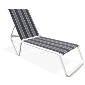 Gardenella Sling Four-Position Lay-flat Stacking Armless Chaise - Snow & Night