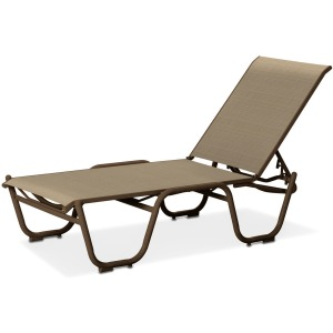 "Reliance Contract Sling 16"" Four-Position Lay-flat Stacking Armless Chaise"