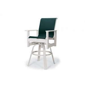 Leeward Mgp Sling, Bar Height Swivel Arm Chair