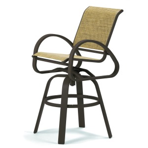 Aruba Sling Bar Height Swivel Cafe Chair