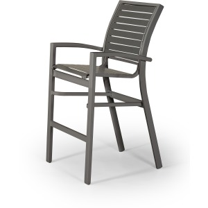 Kendall Contract Strap Bar Height Stacking Cafe Chair
