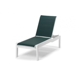 Leeward Mgp Sling, Lay-flat Stacking Armless Long Frame Chaise W/ Wheels