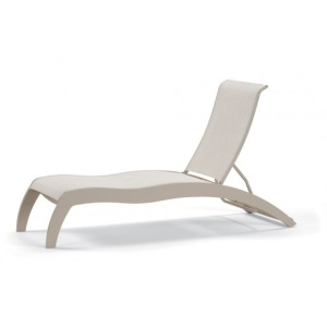 Dune Mgp Sling, Stacking Armless Chaise W/ Wheels
