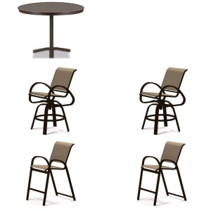 5PC Outdoor Balcony Height Dining Set